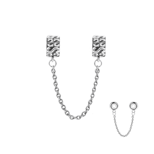 Pandora Compatible 925 sterling silver S Shape Safety Chain From CharmSA Image 1