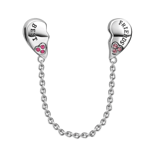 Pandora Compatible 925 sterling silver Best Friends Safety Chain From CharmSA Image 1