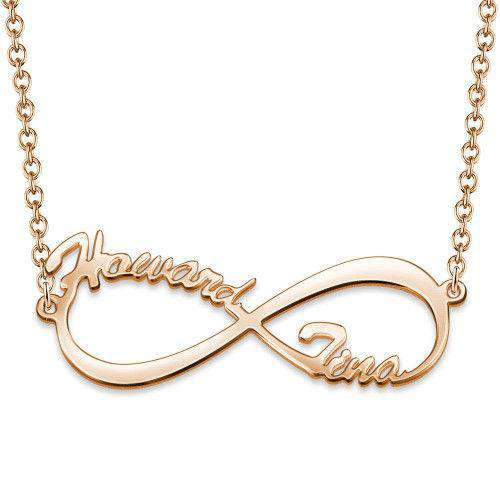 Infinity Name Necklace Rose Gold Plated From CharmSA Image 1