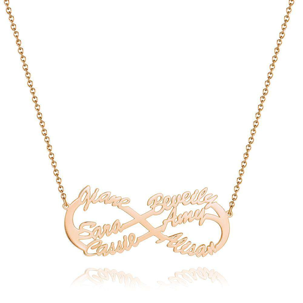Infinity Six  Name Necklace Rose Gold Plated - Silver From CharmSA Image 1
