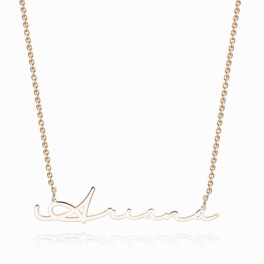 Signature Style Name Necklace Rose Gold Plated Silver From CharmSA Image 1