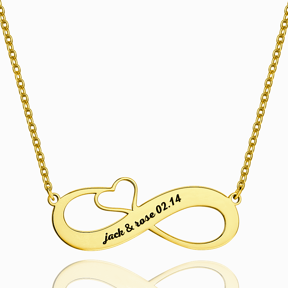 Engraved Name Necklace 14k Gold Plated Silver From CharmSA Image 1