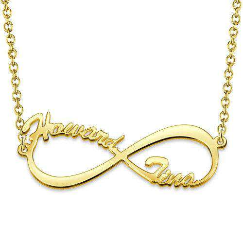 Infinity Name Necklace 14K Gold Plated