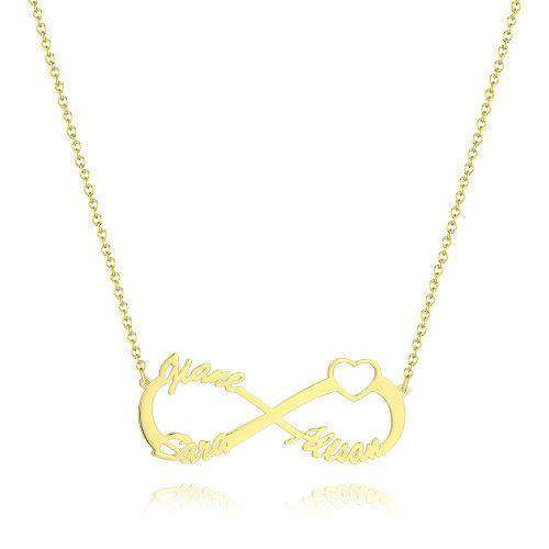 Infinity Three Name Necklace 14 Gold Plated - Silver From CharmSA Image 1