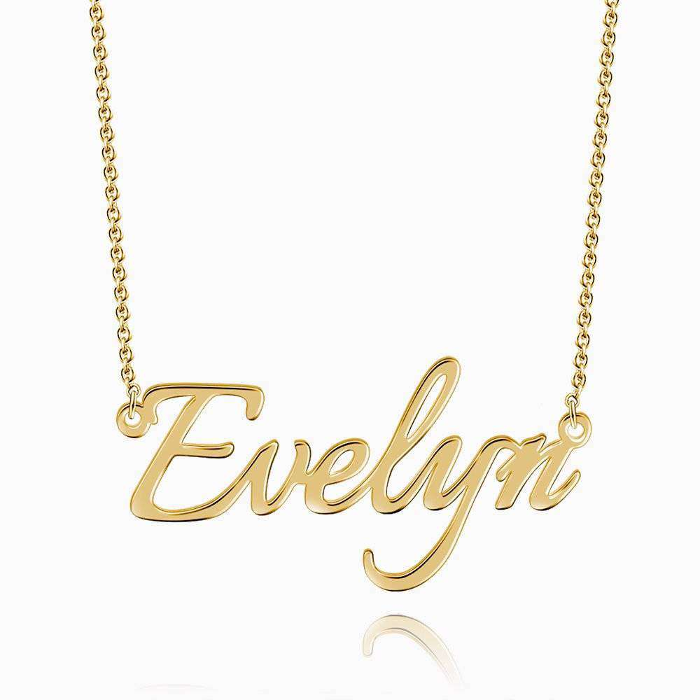 Personalized Name Necklace 14k Gold Plated Silver From CharmSA Image 1
