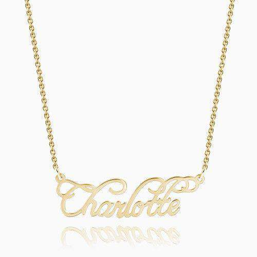 Personalized Cursive Name Necklace 14K Gold Plated Silver From CharmSA Image 1