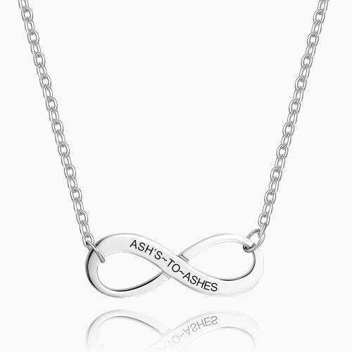 Silver Infinity Love Engraved Necklace From CharmSA Image 1