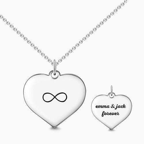 Engraved Infinity Love Necklace Silver From CharmSA Image 1
