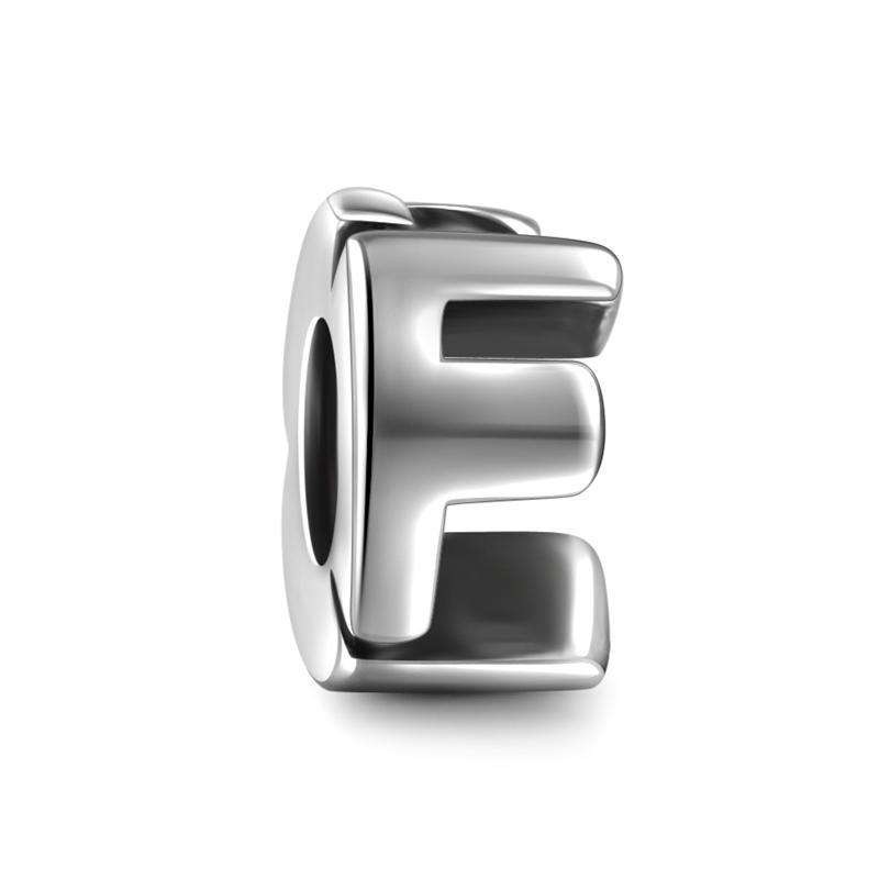 Pandora Compatible 925 sterling silver Alphabet F Charm From CharmSA Image 1
