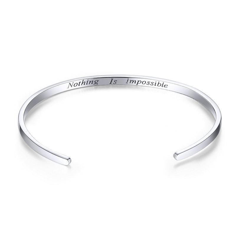 "Courage Bangle ""Nothing is impossible"" From CharmSA Image 1"