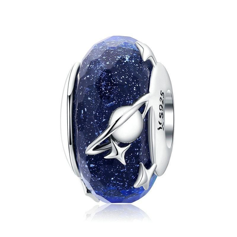 Pandora Compatible 925 sterling silver Nighty Sky Murano Glass Charm From CharmSA Image 1