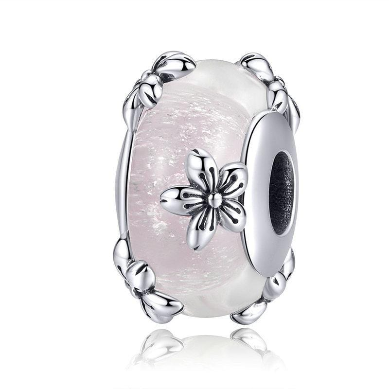 Pandora Compatible 925 sterling silver Flower Murano Glass Charm From CharmSA Image 1