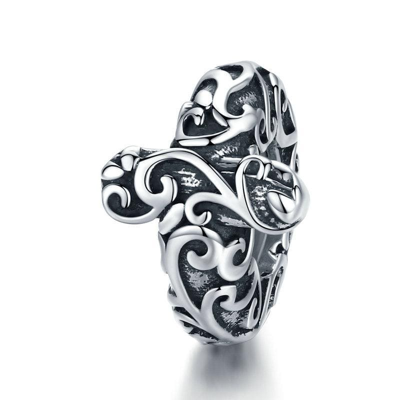 Pandora Compatible 925 sterling silver Pattern Cross Stopper From CharmSA Image 1