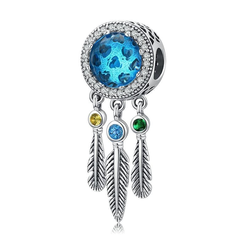 Glass Dream Catcher Charm