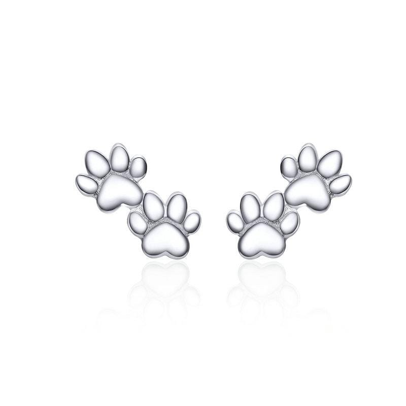 Dog Paw Silver Stud Earrings From CharmSA Image 1