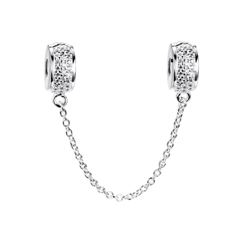 Pandora Compatible 925 sterling silver Safety Chain Silver From CharmSA Image 1