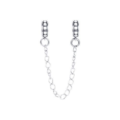 Pandora Compatible 925 sterling silver Conterminal Points Safety Chain Silver From CharmSA Image 1