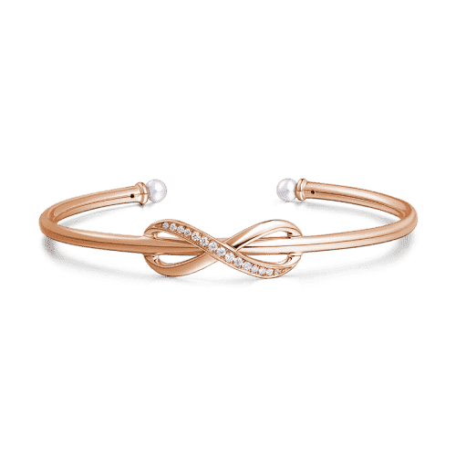 Infinity Love Bangle Rose Gold Plated Silver From CharmSA Image 1