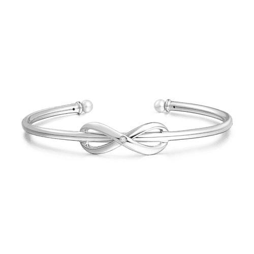 Infinity Love Bangle Silver From CharmSA Image 1