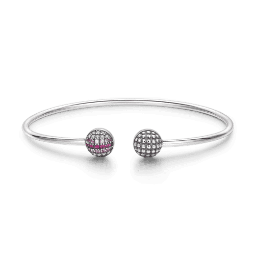 Double Strike Bangle Silver From CharmSA Image 1