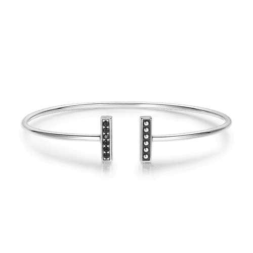 Parallel Bangle Silver From CharmSA Image 1