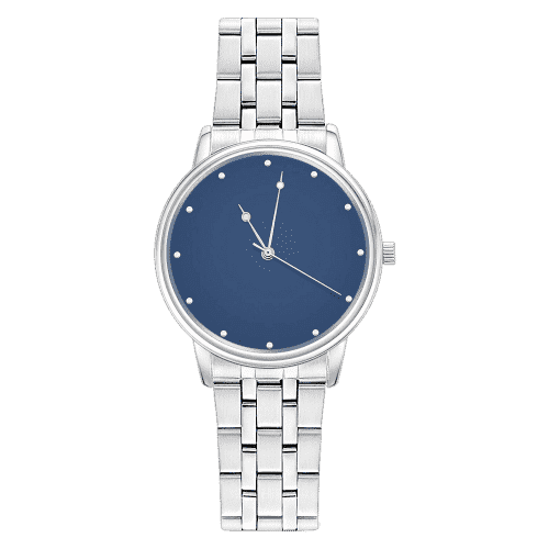 Unisex Blue Dial Bracelet Watch 38mm