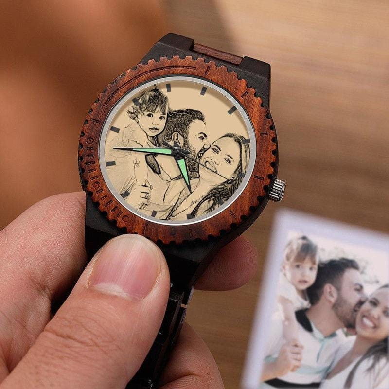 Personalized Watch Photo Engraved Wood Watches