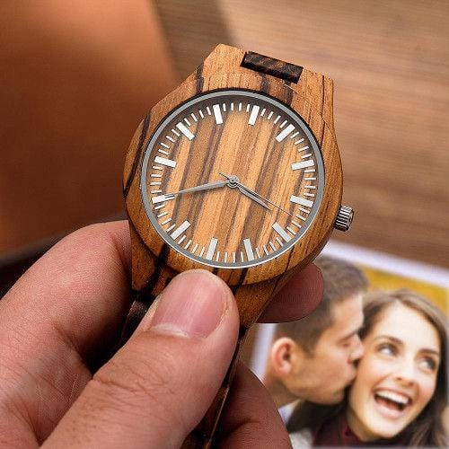 Personalized Engraved Watch Wooden Watch