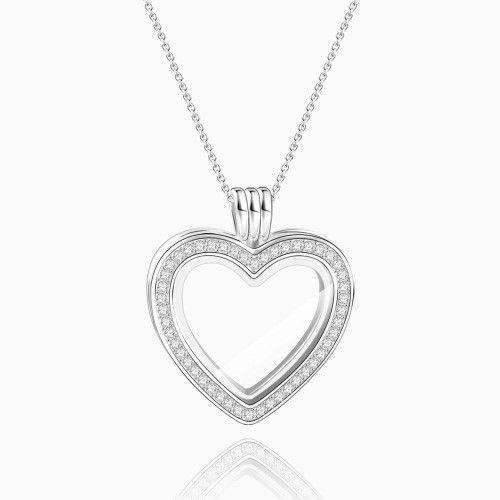 Heart - Small Locket Necklace Silver From CharmSA Image 1