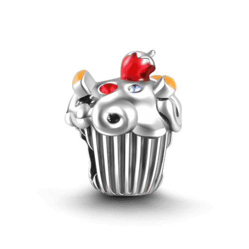 Pandora Compatible 925 sterling silver Fruit Cake Charm Silver From CharmSA Image 1