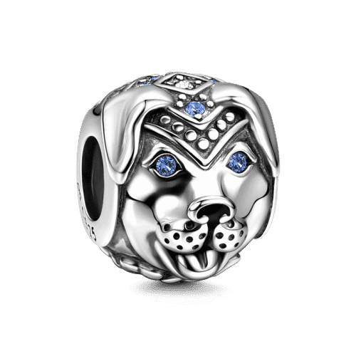 Talisman - Faithful and Honest - Dog Charm Silver