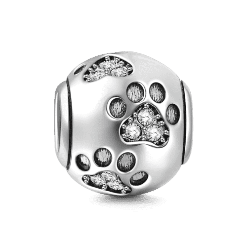 Pandora Compatible 925 sterling silver Dog Paw Charm From CharmSA Image 1