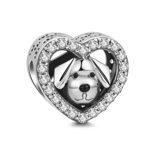 Pandora Compatible 925 sterling silver Pet Dog Charm Silver From CharmSA Image 1