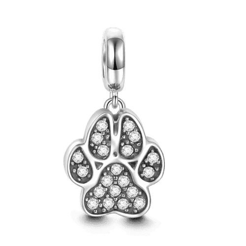 Pandora Compatible 925 sterling silver Cat Paw Charm From CharmSA Image 1