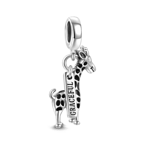Pandora Compatible 925 sterling silver Giraffe Charm Silver From CharmSA Image 1