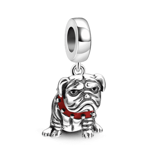 Pandora Compatible 925 sterling silver Shar Pei Charm Silver From CharmSA Image 1