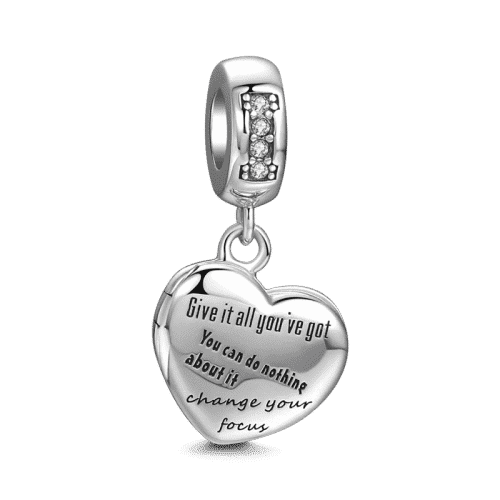 Answer in My Heart Charm Silver