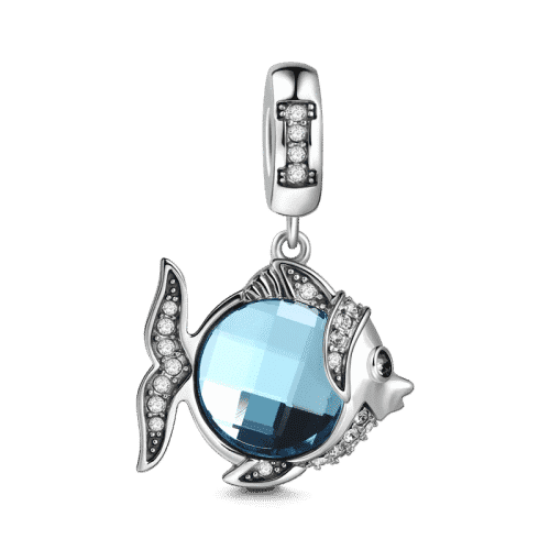 Pandora Compatible 925 sterling silver Blue Fish Charm From CharmSA Image 1