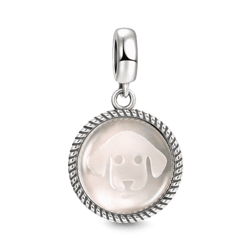 Pandora Compatible 925 sterling silver Cute Dog Charm From CharmSA Image 1
