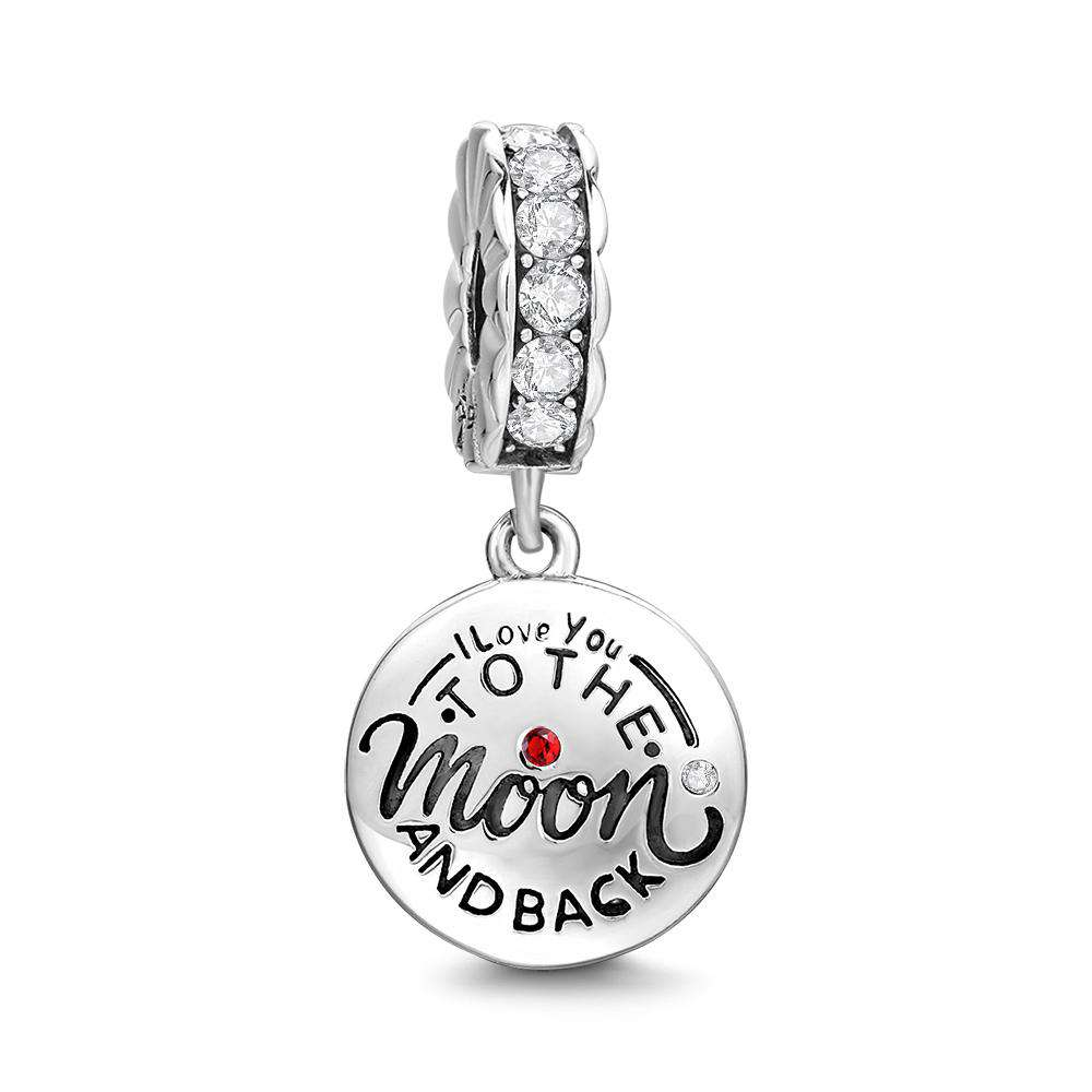 Pandora Compatible 925 sterling silver I Love You Mom Dangle Charm From CharmSA Image 1