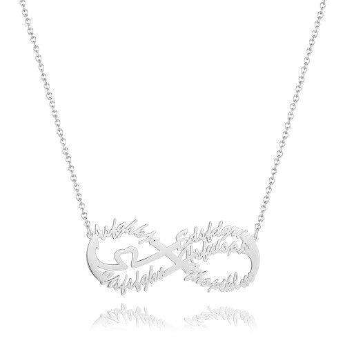 Infinity Five Name Necklace - Silver From CharmSA Image 1