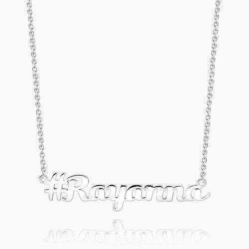 Hashtag Name Necklace Silver From CharmSA Image 1