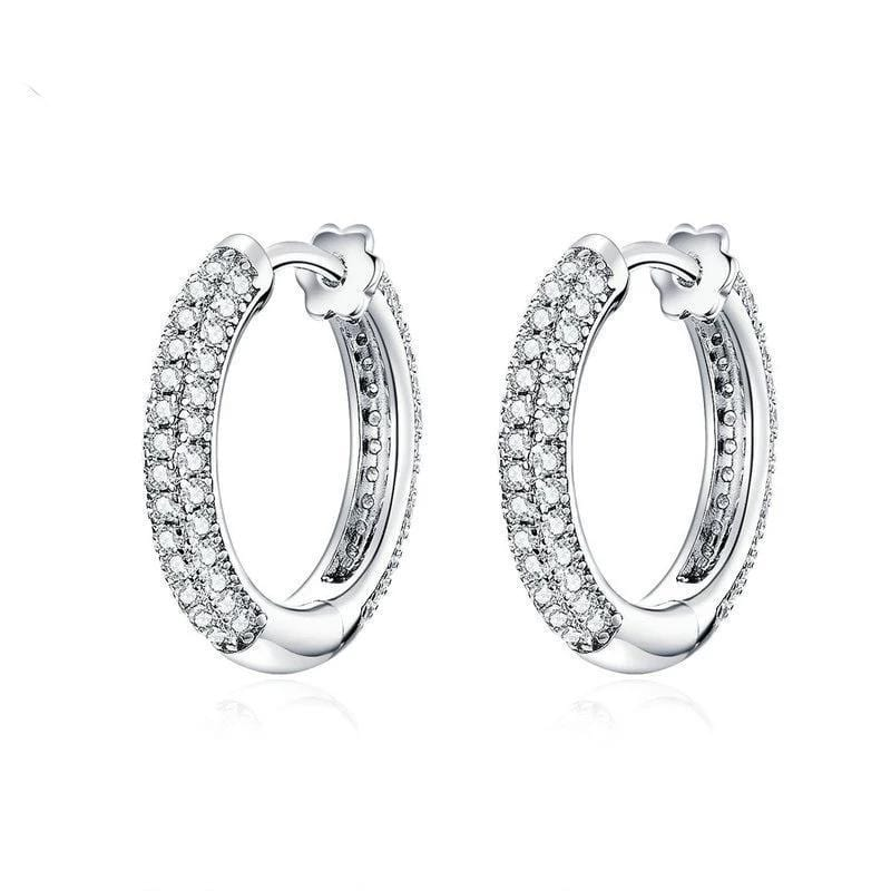 Clear CZ Earrings From CharmSA Image 1