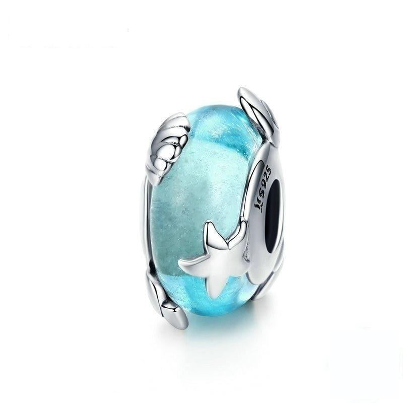 Pandora Compatible 925 sterling silver Blue Star Murano Glass From CharmSA Image 1