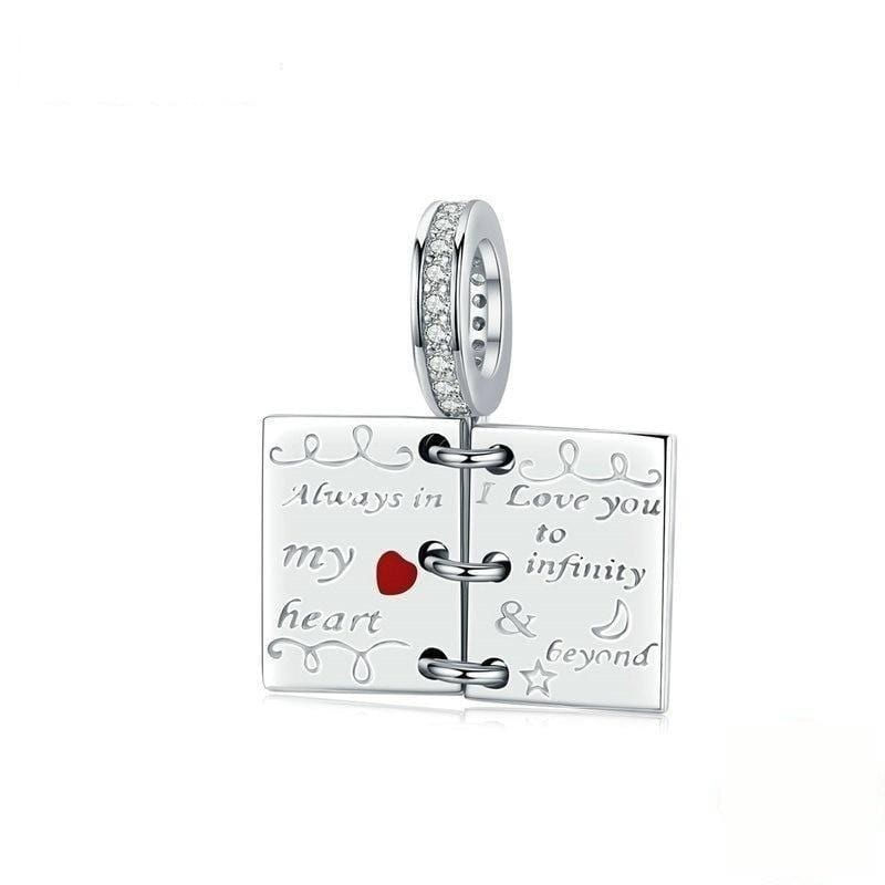 Note Book Dangle Charm