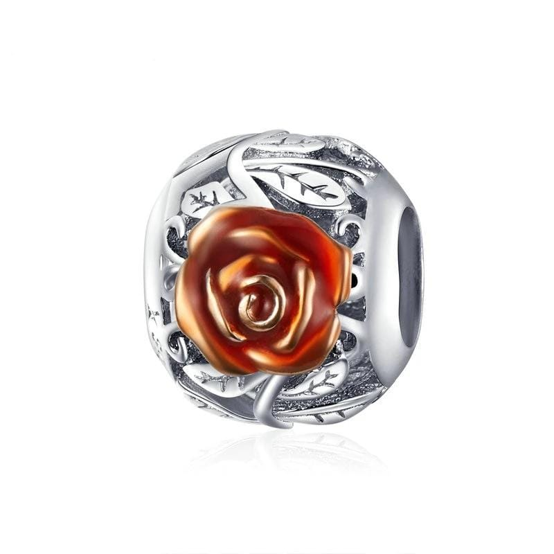 Pandora Compatible 925 sterling silver Rose Flower Charm From CharmSA Image 1