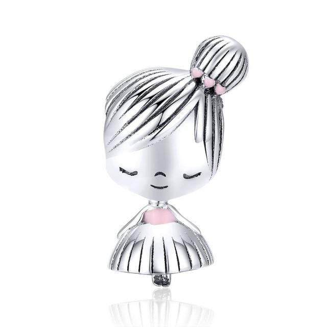 Pandora Compatible 925 sterling silver Girl Charm From CharmSA Image 1