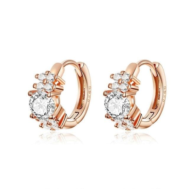 Tiny Hoop Rose Gold Plated Earrings
