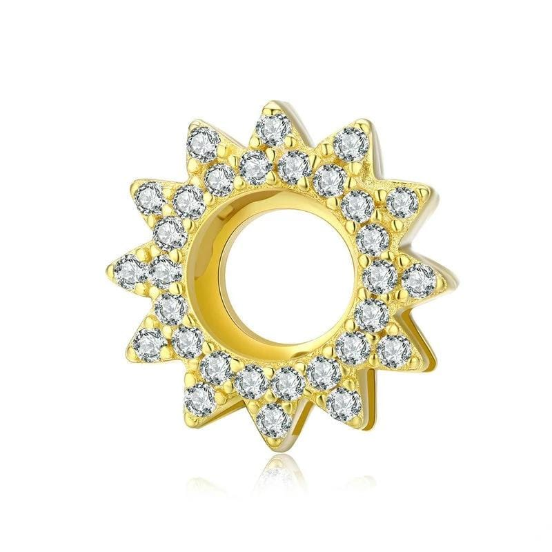 Pandora Compatible 925 sterling silver Sun Star Charm From CharmSA Image 1