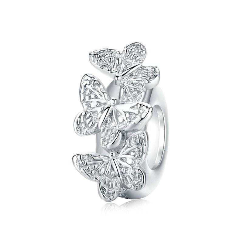 Pandora Compatible 925 sterling silver Butterfly Stopper Charm From CharmSA Image 1